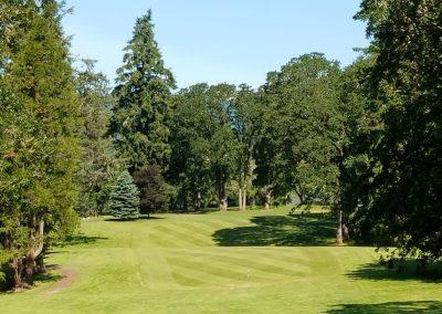 Corvallis Club 9th hole approach fairway